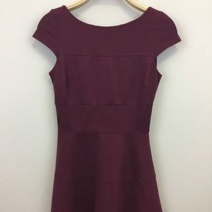 Banana Republic Maroon Dress With Bell Skirt - 2